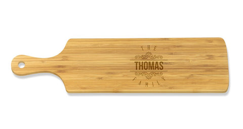 Surname Long Bamboo Serving Board