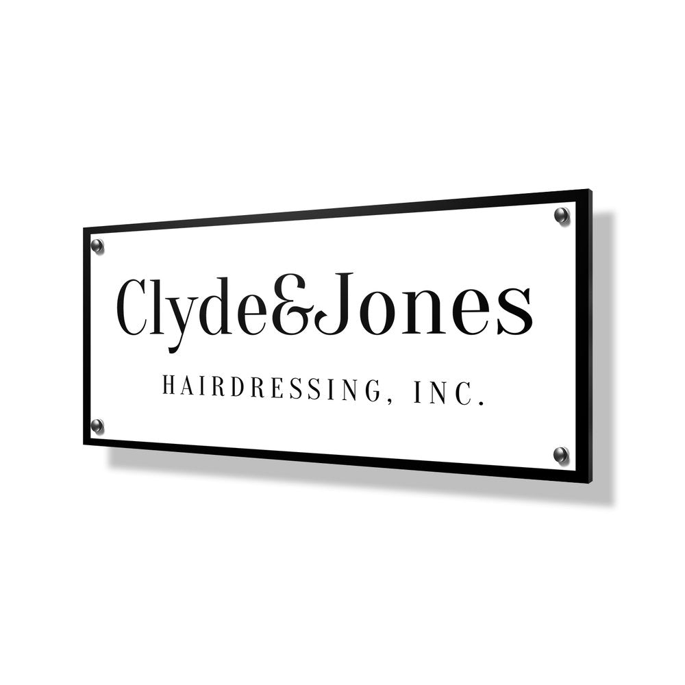 Hairdressing Business Sign - 24x12""
