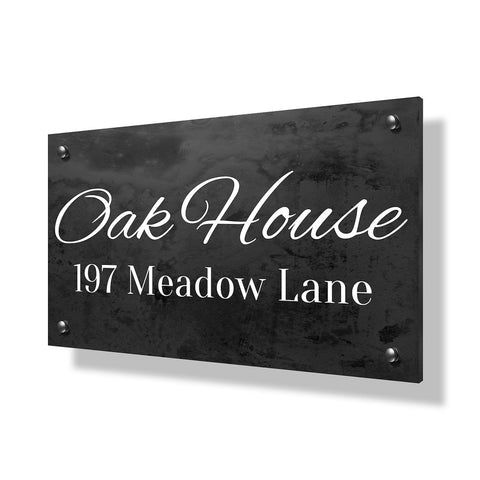 Oak House Business Sign - 30x20""