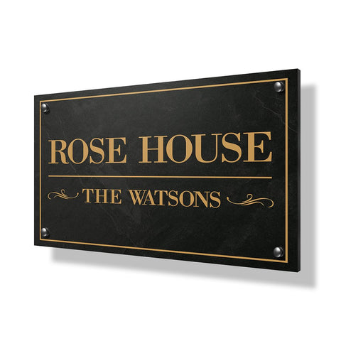 Rose House Business Sign - 30x20""
