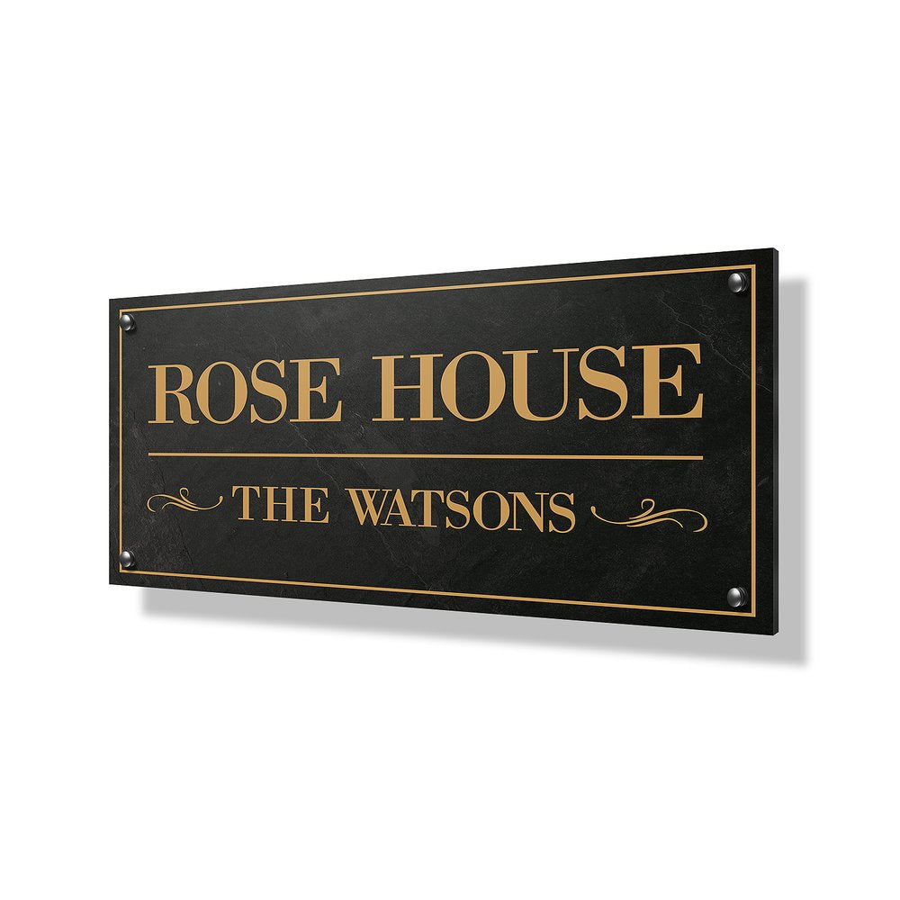 Rose House Business Sign - 24x12""