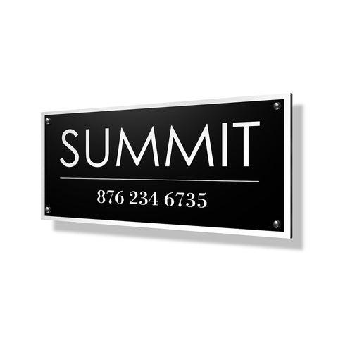 Summit Business Sign - 24x12""