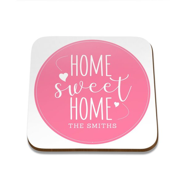 Home Sweet Home Square Coaster - Single