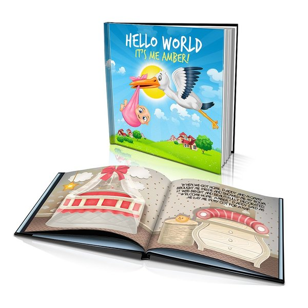 Large Hard Cover Story Book - Hello World
