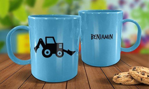 Little Digger Plastic Mug - Blue