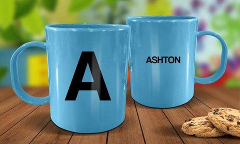 Name Plastic Mug - Blue