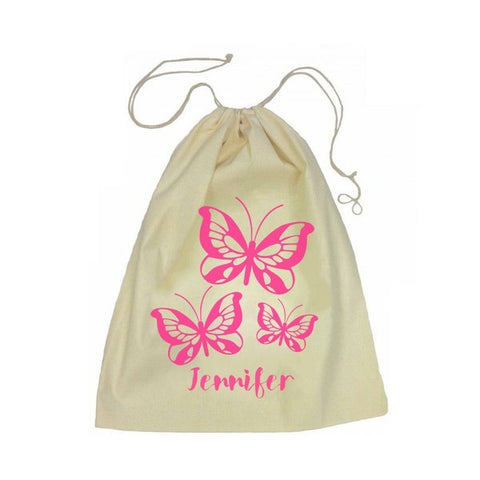 Calico Drawstring Bag - Butterflies