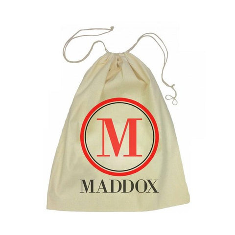 Calico Drawstring Bag - Monogram