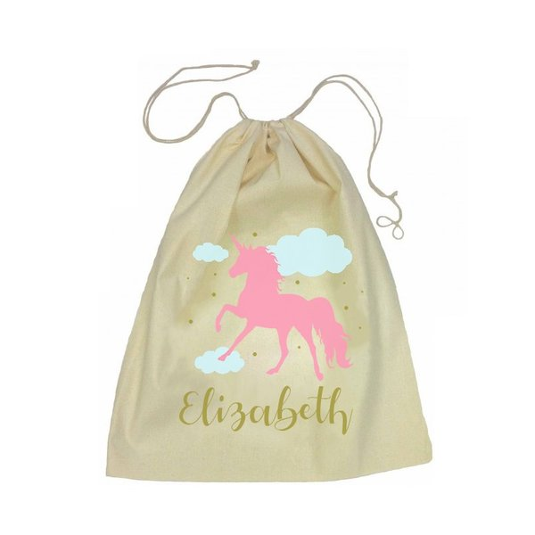 Drawstring Bag - Pink Unicorn