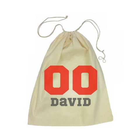 Calico Drawstring Bag - Sports Number