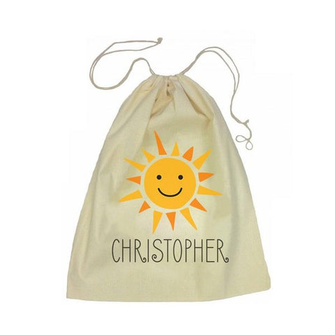 Calico Drawstring Bag - Sunshine