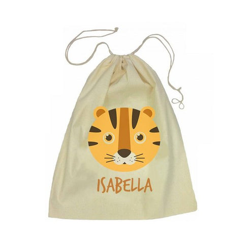 Calico Drawstring Bag - Tiger