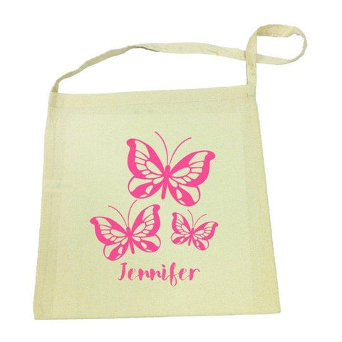 Butterflies Calico Tote Bag