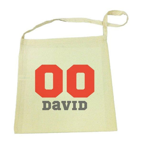 Sports Number Calico Tote Bag