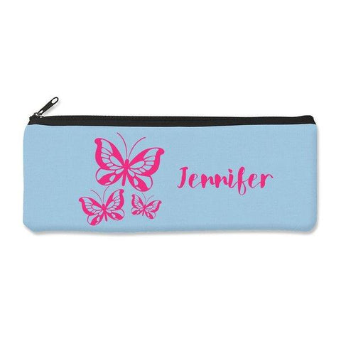 Pink Butterflies Pencil Case - Large