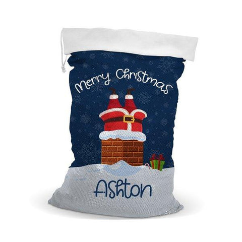 Chimney Sequin Santa Sack
