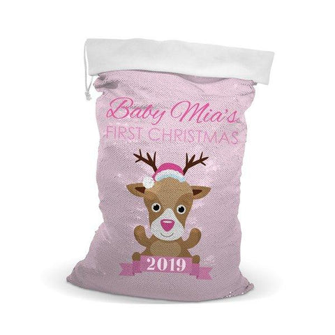 Pink Baby Sequin Santa Sack (Out of Stock)