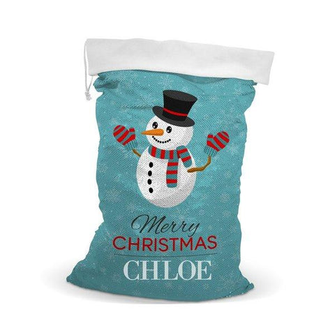 Snowman Sequin Santa Sack (Out of Stock)