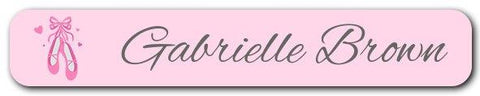 Ballet Shoes Mini Name Labels 72pk