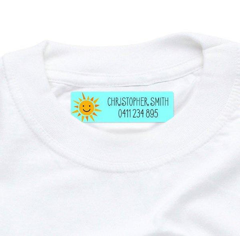Sunshine Iron On Labels 44pk