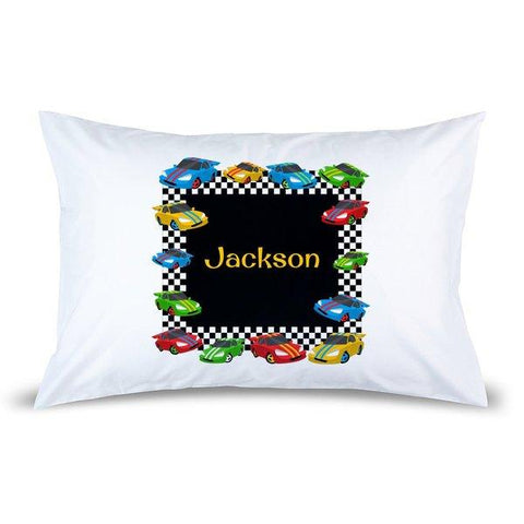 Race Cars Pillow Case