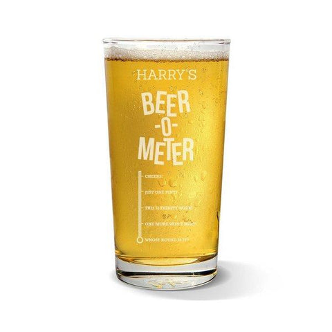 Beer Meter Pint Glass