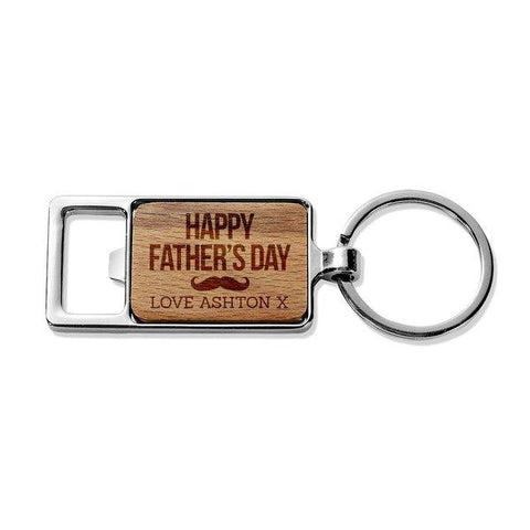 Happy Father's Day Rectangle Metal Keyring