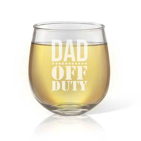 Off Duty Stemless Wine Glass