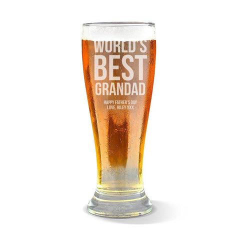 Best Grandad Premium 425ml Beer Glass