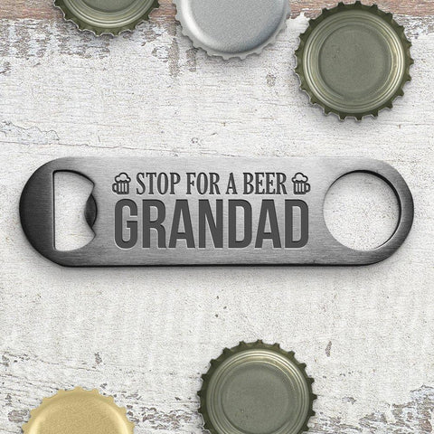 Stop Engraved Bottle Opener