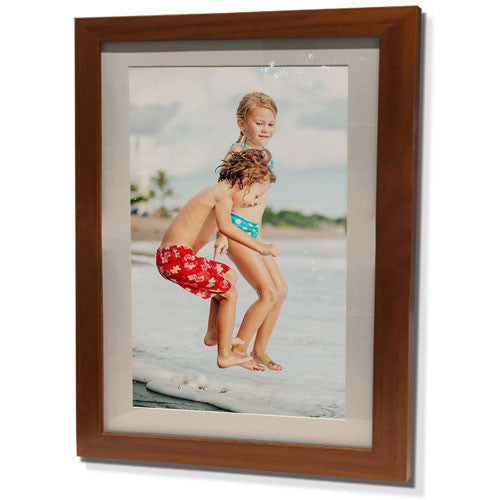 "13x15"" Brown Frame with White Border (7x9"" Print)"