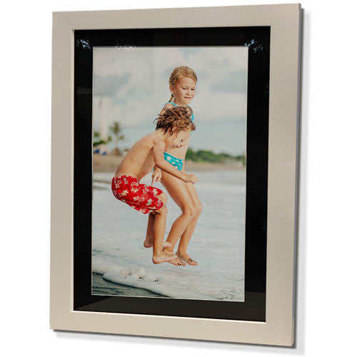 "13x15"" White Frame with Black Border (7x9"" Print)"