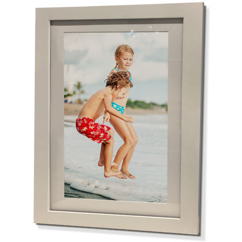 "19x23"" White Frame with White Border (12x17"" Print)"