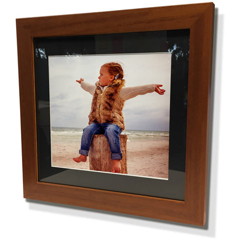 "13x13"" Brown Frame with Black Border (7x7"" Print)"