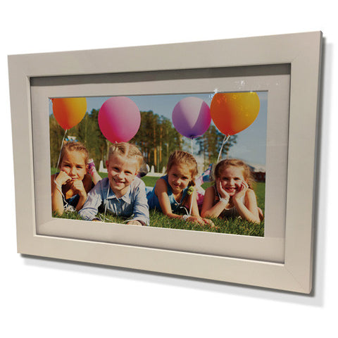 "13x15"" White Frame with White Border (7x9"" Print)"