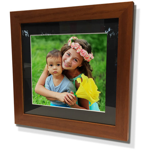 "15x15"" Brown Frame with Black Border (9x9"" Print)"