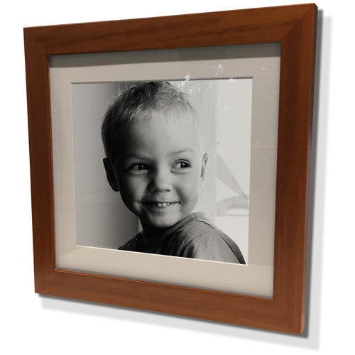 "15x15"" Brown Frame with White Border (9x9"" Print)"