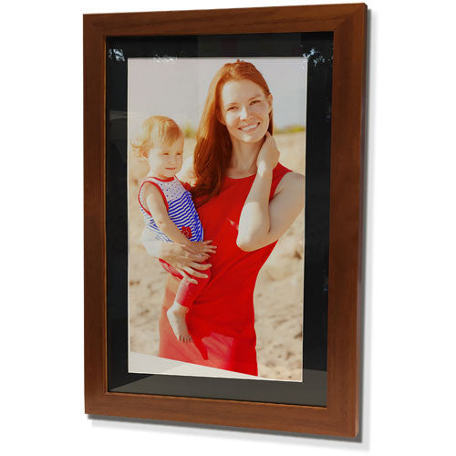 "15x21"" Brown Frame with Black Border (9x15"" Print)"