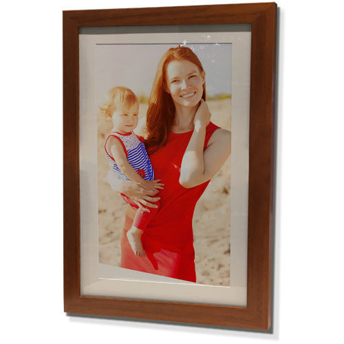 "15x21"" Brown Frame with White Border (9x15"" Print)"