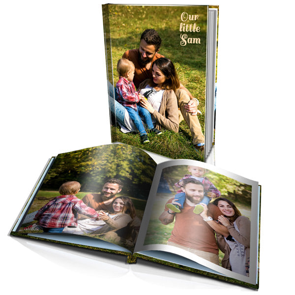 "16 x 12"" Portrait Personalised Hard Cover Photo Book"