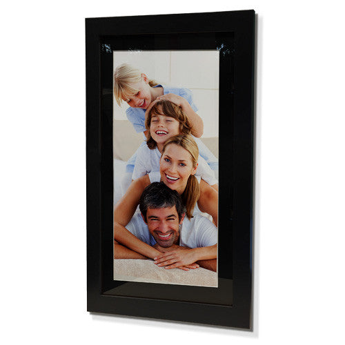 "16x28"" Black Frame with Black Border (7x19"" Print)"