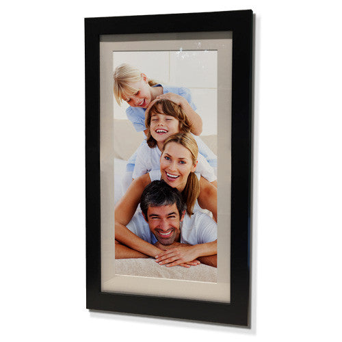 "16x28"" Black Frame with White Border (7x19"" Print)"