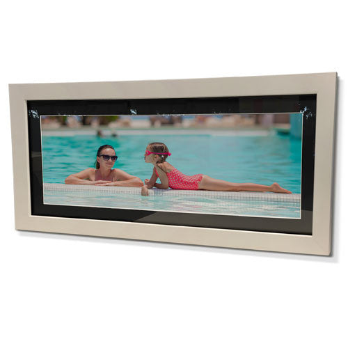 "16x28"" White Frame with Black Border (7x19"" Print)"