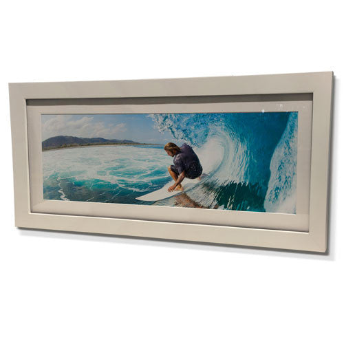 "16x28"" White Frame with White Border (7x19"" Print)"