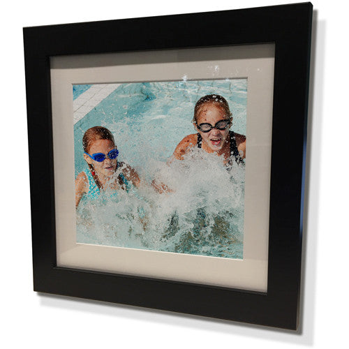 "19x19"" Black Frame with White Border (12x12"" Print)"