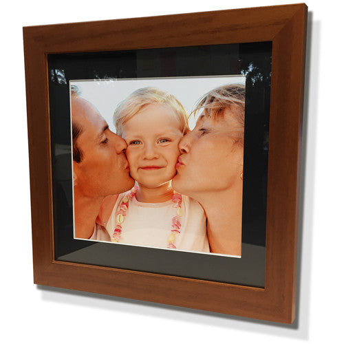 "19x19"" Brown Frame with Black Border (12x12"" Print)"