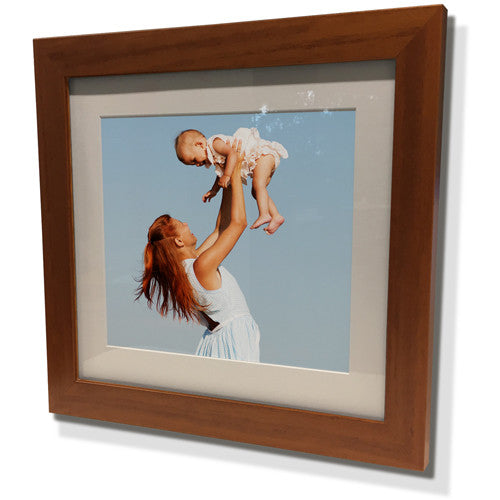 "19x19"" Brown Frame with White Border (12x12"" Print)"