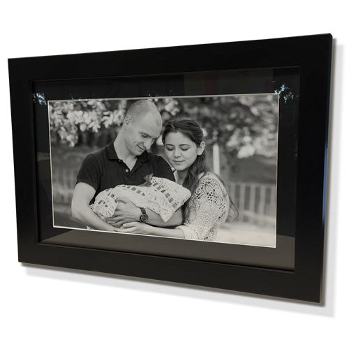 "24x28"" Black Frame with Black Border (15x19"" Print)"