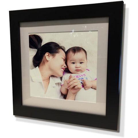 "28x28"" Black Frame with White Border (19x19"" Print)"