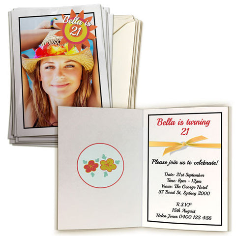 "4 x 6"" Double Sided Card (20 pack) Portrait"